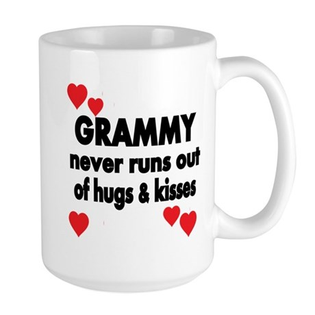 GRAMMY NEVER RUNS OUT OF HUGS KISSES Mugs
