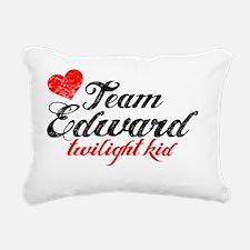 TwiKid Red Rectangular Canvas Pillow