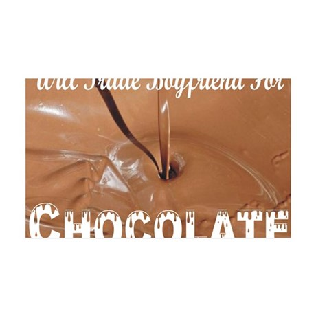 Trade boyfriend for chocolate 35x21 Wall Decal