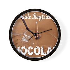 Trade boyfriend for chocolate Wall Clock