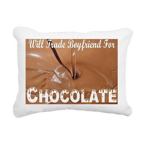 Trade boyfriend for choc Rectangular Canvas Pillow