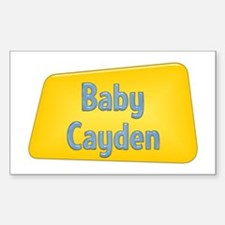 Baby Cayden Rectangle Decal