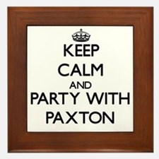 Keep Calm and Party with Paxton Framed Tile