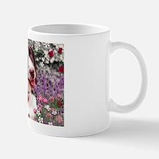 Lady Brittany Spaniel Flowers Mug