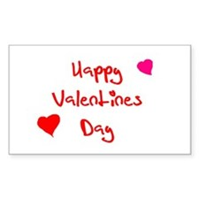 Happy Valentine's Day Rectangle Decal