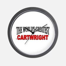 """The World's Greatest Cartwright"" Wall Clock"