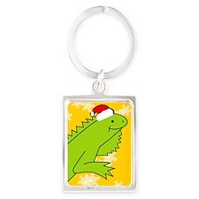 Iguana Xmas iPhone 4s Portrait Keychain