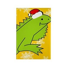 Iguana Xmas iPhone 4s Rectangle Magnet