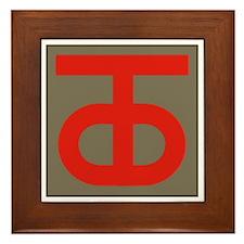 90th Infantry Division Framed Tile