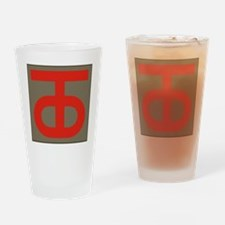 90th Infantry Division Drinking Glass