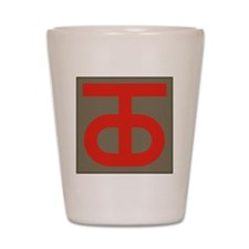 90th Infantry Division Shot Glass