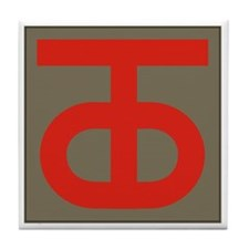 90th Infantry Division Tile Coaster