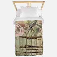 Vintage French Shabby chic birdcage Twin Duvet