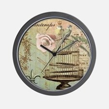 Vintage French Shabby chic birdcage Wall Clock