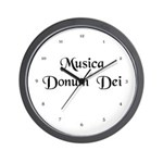 Musica Donum Dei [Latin] Wall Clock