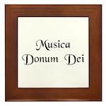 Musica Donum Dei [Latin] Framed Tile