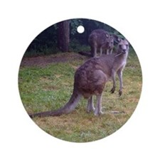 grey kangaroo Ornament (Round)