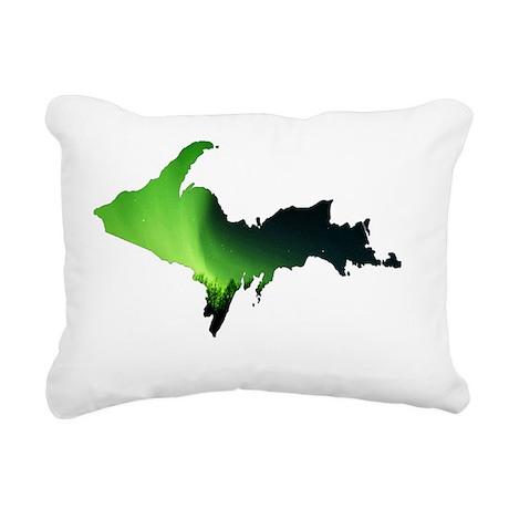 U.P._Aurora_Borealis_001 Rectangular Canvas Pillow