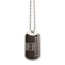old school boombox Dog Tags