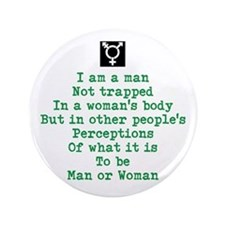 I Am A Man 3.5&Quot; Button