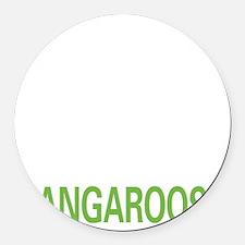 livekangaroo2 Round Car Magnet
