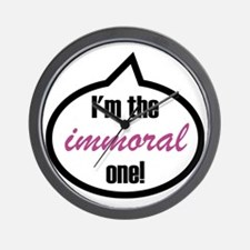 Im_the_immoral Wall Clock