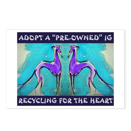 Recycled Hearts Postcards (Package of 8)