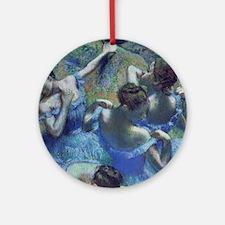 Blue Dancers by Edgar Degas Round Ornament