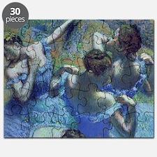 Blue Dancers by Edgar Degas Puzzle