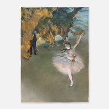The Star by Edgar Degas 5'x7'Area Rug