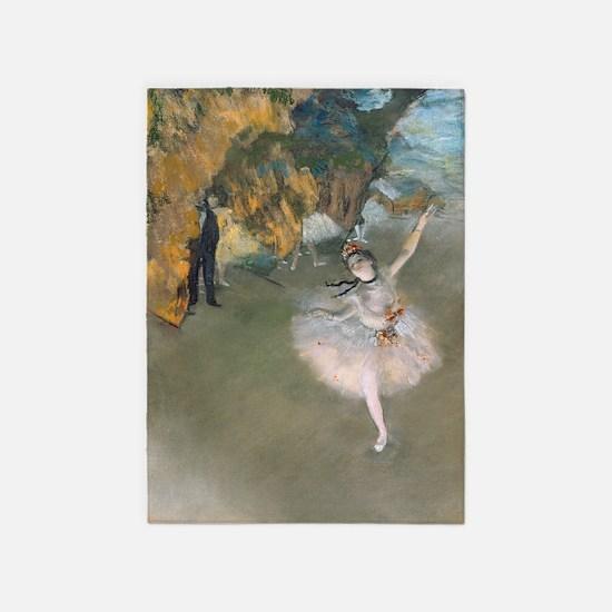 The Star by Edgar Degas 5'x7'Area Rug