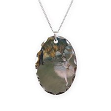 The Star by Edgar Degas Necklace Oval Charm