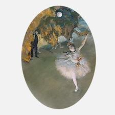 The Star by Edgar Degas Oval Ornament