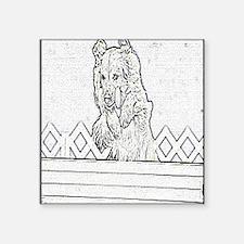 """roh pencil stadium Square Sticker 3"""" x 3"""""""