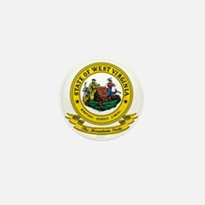 West Virginia Seal Mini Button