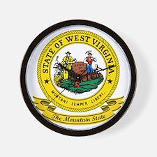 West Virginia Seal Wall Clock
