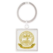 Tennessee Seal Square Keychain