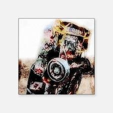 """amarillo_Grunge_gymnBag Square Sticker 3"""" x 3"""""""