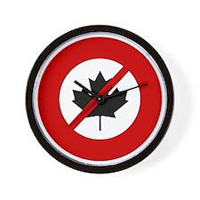 no-canadians Wall Clock