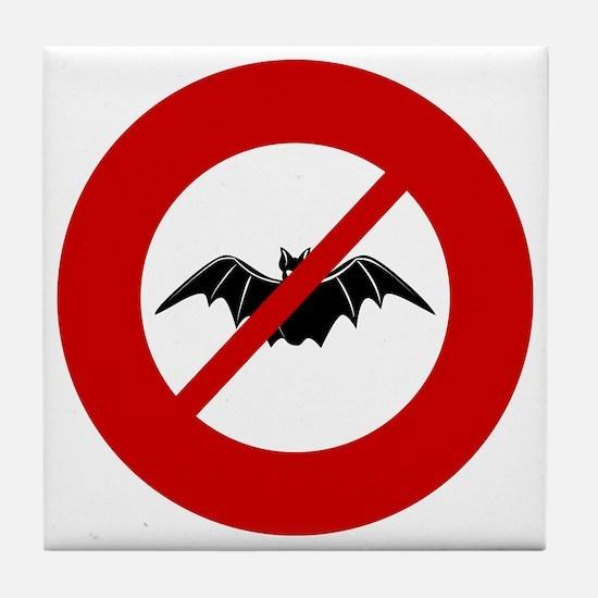 no-bats Tile Coaster