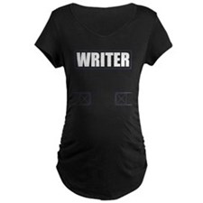 Writer Vest Maternity Dark T-Shirt