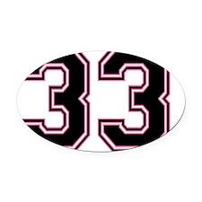 Back #33 Oval Car Magnet