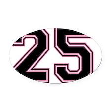 Back #25 Oval Car Magnet