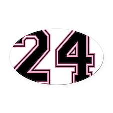 Back #24 Oval Car Magnet