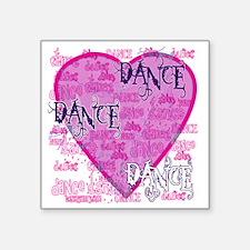 """dance dance dance purple te Square Sticker 3"""" x 3"""""""