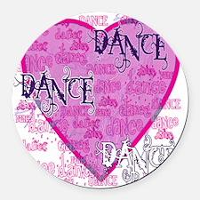 dance dance dance purple text cop Round Car Magnet