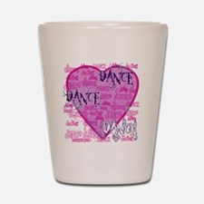 dance dance dance purple text copy Shot Glass