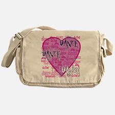 dance dance dance purple text copy Messenger Bag