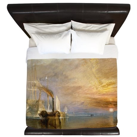 The Fighting Temeraire by Joseph Mallor King Duvet