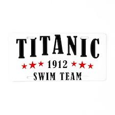 Titanic 1912 Swim Team Red  Aluminum License Plate